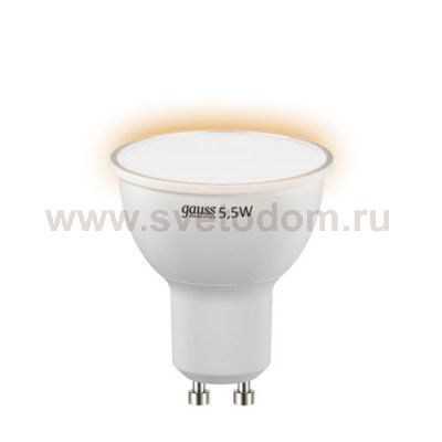 Лампа Gauss LED Elementary MR16 GU10 5.5W 430lm 2700К (13616)