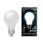 Лампа Gauss LED Filament A60 OPAL E27 10W 860lm 4100К (102202210)