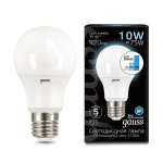 Лампа Gauss LED A60 10W E27 920lm 4100K step dimmable (102502210)
