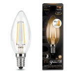 Лампа Gauss LED Filament Свеча E14 7W 550lm 2700К step dimmable (103801107)