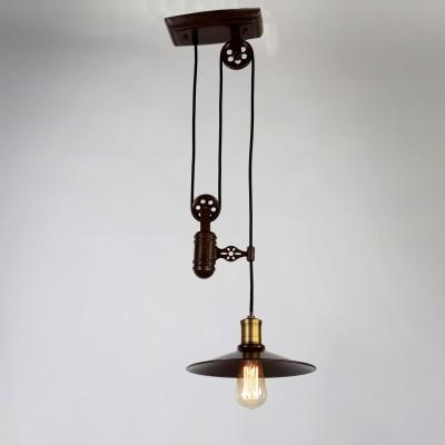 Люстра Favourite 1762-1P WinchПодвесные<br>Выбирая модель светильника Favourite 1762-1P, обратите внимание, что арматура темно-коричневого цвета, механизм лебедки для изменения высоты подвеса. Дополнительная информация в характеристиках или по телефону.<br><br>S освещ. до, м2: 2<br>Крепление: Планка<br>Тип цоколя: E27<br>Количество ламп: 1<br>MAX мощность ламп, Вт: 40<br>Диаметр, мм мм: 260<br>Размеры: D260*H1200<br>Высота, мм: 1200<br>Цвет арматуры: коричневый<br>Общая мощность, Вт: 60W