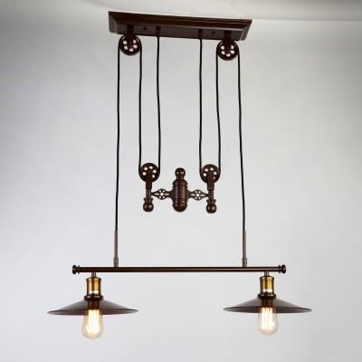 Люстра Favourite 1762-2P WinchПодвесные<br>Выбирая модель светильника Favourite 1762-2P, обратите внимание, что арматура темно-коричневого цвета, механизм лебедки для изменения высоты подвеса. Дополнительная информация в характеристиках или по телефону.<br><br>Установка на натяжной потолок: Да<br>S освещ. до, м2: 2<br>Крепление: Планка<br>Тип цоколя: E27<br>Количество ламп: 1<br>Ширина, мм: 260<br>MAX мощность ламп, Вт: 40<br>Размеры: W260*L790*H1200<br>Длина, мм: 790<br>Высота, мм: 1200<br>Цвет арматуры: коричневый<br>Общая мощность, Вт: 60W