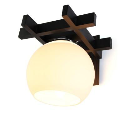 Светильник бра Дубравия 196-42-11W ВИОЛАбра в восточном стиле<br>Бра ВИОЛА 1хЕ27х60W.<br><br>Крепление: потолочный<br>Тип лампы: накаливания / энергосбережения / LED-светодиодная<br>Тип цоколя: Е27<br>Цвет арматуры: Венге<br>Количество ламп: 1<br>Ширина, мм: 190<br>Длина, мм: 160<br>Высота, мм: 190<br>Поверхность арматуры: матовый<br>Оттенок (цвет): белый / венге<br>MAX мощность ламп, Вт: 60
