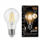 Лампа Gauss LED Filament A60 E27 10W 930lm 2700К step dimmable