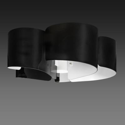 Lightstar PITTORE 811057 ЛюстраПотолочные<br><br><br>Установка на натяжной потолок: Да<br>S освещ. до, м2: 10<br>Крепление: Планка<br>Тип товара: Люстра<br>Тип лампы: Накаливания / энергосбережения / светодиодная<br>Тип цоколя: E27<br>Количество ламп: 5<br>MAX мощность ламп, Вт: 40<br>Диаметр, мм мм: 640<br>Высота, мм: 290<br>Оттенок (цвет): черный+белый<br>Цвет арматуры: черный