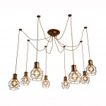 Люстра паук лофт Arte lamp A9182SP-8BZ INTERNO