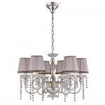 Люстра Crystal lux ALEGRIA SP6 SILVER-BROWN 1040/306