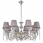 Люстра Crystal lux ALEGRIA SP8 SILVER-BROWN 1040/308