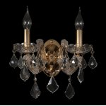 Бра INES AP2 GOLD/TRANSPARENT (2042/402) Crystal lux