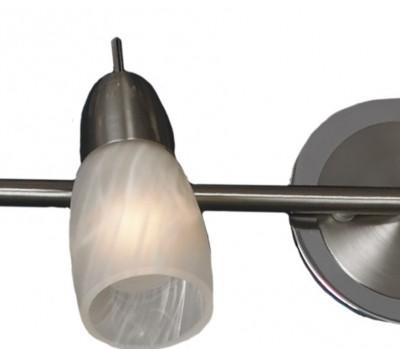 Светильник поворотный спот Lussole LSQ-6901-02 CEVEDALEдвойные светильники споты<br>Этот светильник предназначен для освещения небольшого по площади помещения. Благодаря способности двух плафонов-спотов поворачиваться в нескольких направлениях, вы сможете менять и регулировать луч света, делая его ярким либо мягким. С его помощью можно не только осветить какую-то зону, но и подсветить предметы интерьера, например, стеклянную полку или настенное зеркало. Сочетание белого и металлического цвета, а также современная конструкция помогают светильнику быть на виду в любом интерьере!