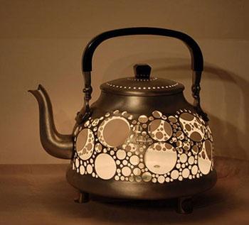 Светильник своими руками в виде чайника